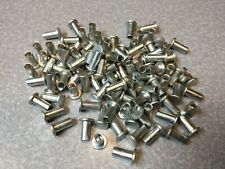 Steel Flat Head Semi-tubular Rivets - 3/16� x 3/8� Long— 100 Pcs