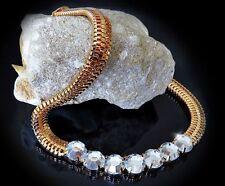 Runde Modeschmuck-Halsketten & -Anhänger aus Strass und Legierung für Damen