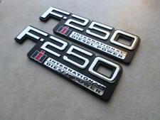 2X NEW Ford F-250 International Diesel Power TEWOBSF250 Nameplates Logos Emblems