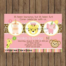 Zoo Girl Birthday Invitation / Zoo Party Invitation / Sweet Safari / Printable