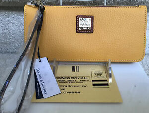 Dooney & Bourke Pebble Leather Tatum Wristlet in DANDELION