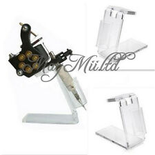 New Clear Acrylic Tattoo Machine Gun Holder Stand Rack Organzier Kit Supply L 글