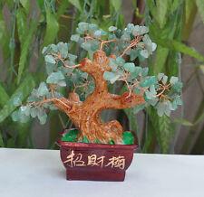 Lucky tree!!! Natural green aventurine crystal gem tree reiki 345g#
