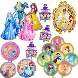 Princess Belle Cinderella Aurora Elsa Foil Birthday Balloons Party Decorations