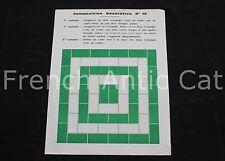 Tableau Composition Decorative Forme rectangle vert blanc vintage art scolaire