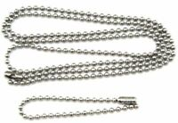 24,27,30,36,40 Inch Dog Tag chain set Military Stainless Steel  2nd chain 5.5""