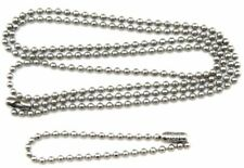 27 30 36 40 Inch Dog Tag chain set Military Stainless Steel  2nd chain 5.5""