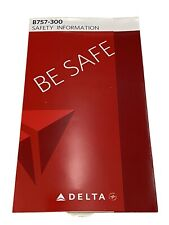 Delta Air Lines Boeing B757-300 Safety Card 2014