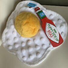 Bark Box Dog Chew Toy Sunny Side Up Egg Breakfast crinkle Ball medium Large Pup