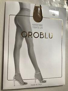 Oroblu Divine 20 size L Nanofibre tights Nude