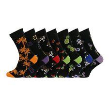 7 Pairs Mens Soft Cotton Rich Novelty Funky Comfort Fit Socks UK 6-11 EU 39-45