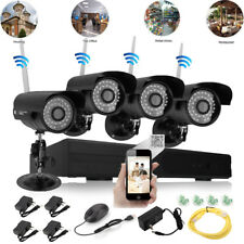 8CH 4pcs HD 720P WIFI Wireless IP Camera System CCTV NVR Outdoor Security Video