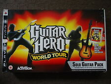 PS3 Guitar Hero World Tour Fender Controller, Strap, Receiver & Game BOXED PAL