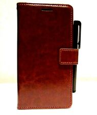 Samsung Galaxy S7 mobile phone Genuine Brown Leather Wallet / Stand Case