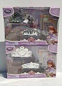 Disney Store Sofia The First Sofia And Amber Tiara Sets-2 NIB SKU 463739414447