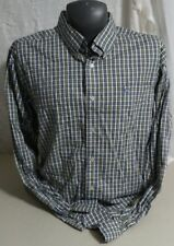 SOUTHERN TIDE Green Plaid Check Button Front Shirt Men's Classic Fit XXL