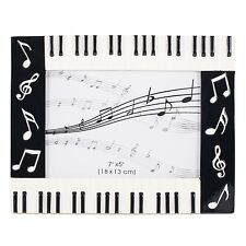 Piano Keyboard Musical Notes Treble Clef Decorative 5x7 Picture Frame (XKBL)