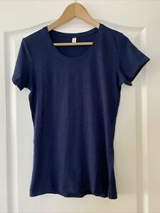 Clique Slub T. Ring Spun Cotton Pre Shrunk Tee Blue T-Shirt  Size M UK 12 BNWT