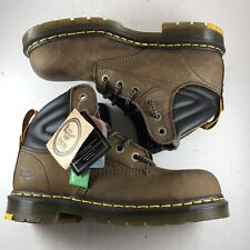 Dr. Martens Mens US 8 Britton Dark Brown Work & Safety Steel Toe Boots