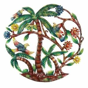 Wall Hangings Hand Made Colorful Palm Trees Global Hand Painted