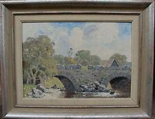"Folke Sinclair 1877-1956, ""Die vecchio Ponte"", verso datato 1946"