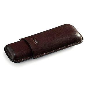 Portasigari Cigar Case in pelle 2 corona De Medici DE00105 MARRONE