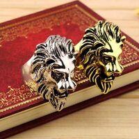 Hombre Precioso Anillos Americana Cabeza De León Anillo Ring