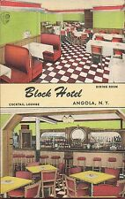 Angola NY ~ Block Hotel Dining Room & Cocktail Lounge on Lake Erie ~ Deco Linen
