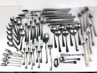 Stainless Flatware Gran Royale Leonard Old Rockport 62 Pieces French Country 3y2