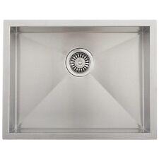 """22 x 18in. Stainless Steel Kitchen Sink Zero Radius - 16 Gauge 10"""" depth"""