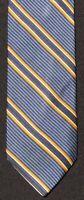 Altea Milano Italy Blue and Gold Silk Repp Trad Woven Tie