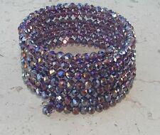 Bracciale largo spirale Alla Schiava donna,Braccialetto polso,cristalli viola
