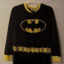 Batgirl One Piece Black Footed PJs Pajamas Halloween Costume - Juniors XL - BB67