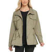 DKNY NEW Women's Sage Utility Anorak Light Weight Windbreaker Jacket Top L TEDO