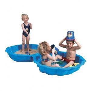 Paradiso Wassermuschel Sandmuschel Große XXL Sandkasten blau 2-teilig