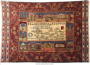 6,3x 4,6 feet unique old ariana afghan airlines flight routes design rug carpet