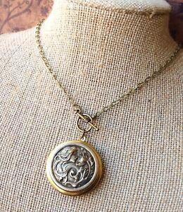 Locket Necklace \u00b7 Brass Locket Necklace \u00b7 Vintage 1950s Locket \u00b7 Dainty Necklace \u00b7 Boho Necklace \u00b7 Best Friend Gift \u00b7 Small Locket Pendant
