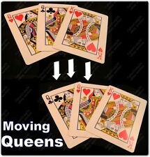 MOVING QUEEN 3 CARD TRICK 1 KING 2 GIMMICK QUEENS GAFF MAGIC THE GRAIL ACAAN WOW