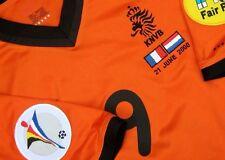 HOLLAND KLUIVERT EURO 2000 NETHERLANDS ORIGINAL  SHIRT w/ MATCH DETAILS  !