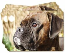 Brindle Boxer Dog Picture Placemats in Gift Box, AD-B23P