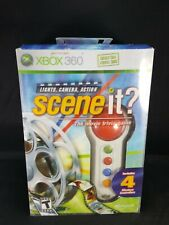 Scene It? Trivia Game with Four Wireless Controllers Or  Buzzers Xbox 360