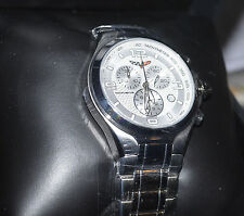 GM CORVETTE CR299 Silver Stainless Mens SWISS Chronograph Date WATCH New in Box
