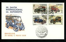 Postal History Spain FDC #2037-2040 Antique Cars automobiles 1977