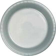 """Silver 9"""" Plastic Plates 20 Per Pack Silver Decorations & Party Supplies"""