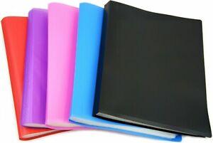 A4 SOFT FLEXIBLE POCKET DISPLAY FOLDER BOOK PRESENTATION FILE PORTFOLIO DOCUMENT