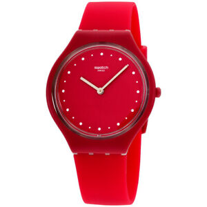 Swatch Skinlampone Quartz Movement Red Dial Ladies Watch SVOR101