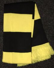 Black and Yellow bars Football Scarf Steelers Dortmund Watford Arsenal Away bn