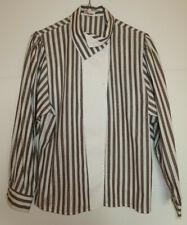 Baumwoll-Bluse, braun-weiß gestreift, Gr. 36