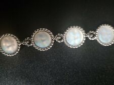 Face Silver Tone Bracelet Kirks Folly Seaview Moon