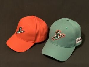 Norfolk Tides Trident Hats-lot of 2-Green and Orange New
